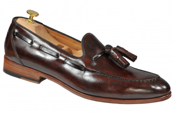 Tassel Loafer in Dunkelbraun Modell Franco