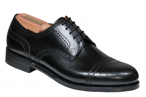 Halfbrogue in Schwarz Modell Antonio