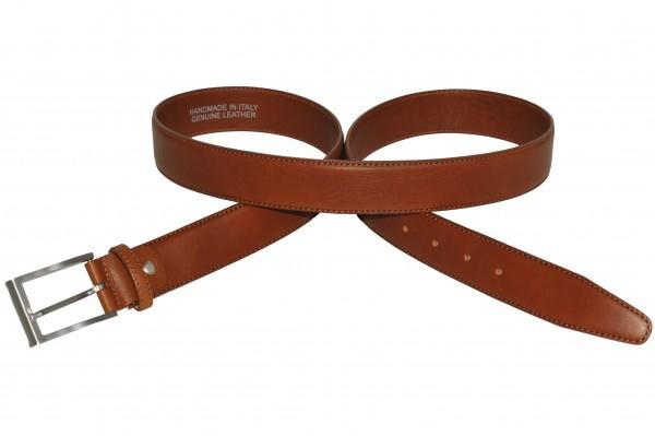 Feiner Cognac Ledergürtel 35 mm breit