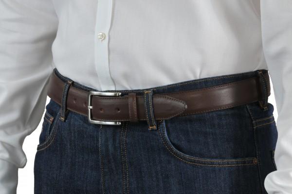 Brauner Ledergürtel 35 mm breit