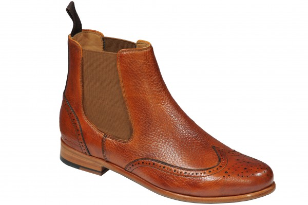 Chelsea Boot in Cognac Modell Martina