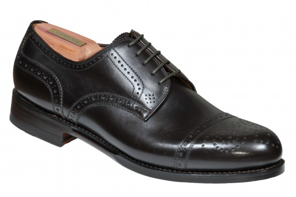 Halfbrogue in Dunkelbraun Modell Antonio