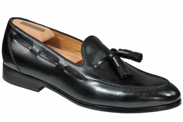 Tassel Loafer in Schwarz Modell Franco